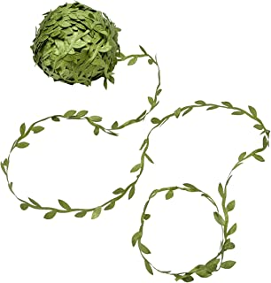 Yolito 256 Ft Artificial Green Vines with leaves, Leaf Garlands Fake Hanging DIY Vine Flower Decorative Home,Wall, Garden, Yard, Wedding Party