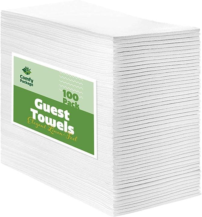 Asciugamani per ospiti in lino comfy package [confezione da 10] tovaglioli per la cena in tessuto usa e getta CP-GT-100