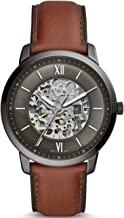 Fossil Mens Analogue Automatic Watch with Leather Strap ME3161