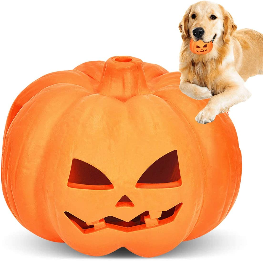 Halloween Pumpkin Dog Industry No. 1 Chew 40% OFF Cheap Sale Toy Tough Aggressi Toys for