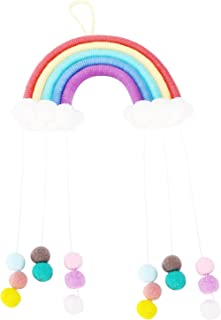 Woven Rainbow, Weaving Rainbow Wall Decor Hand‑Made Colorful for Children Gifts for Home Decoration for Kindergarten