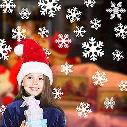 Navidad Nieve Decoracion Pared Etiqueta,...