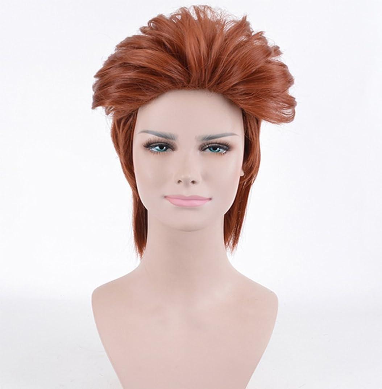 日曜日農学アルミニウムウィッグ女性ショートブラウンカラー耐熱コスパリーファッションパーティーヘアピース