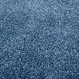 Taracarpet Kurzflor-Designer Uni Teppich extra weich fürs Wohnzimmer, Schlafzimmer, Esszimmer oder Kinderzimmer Gala dunkel-blau 120x170 cm - 7