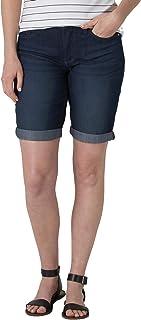 Women's Rolled Cuff Midrise Denim Bermuda Short with 10