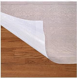 Resilia Mediterranean Pattern- Premium Clear Plastic Floor Runner/Protector for Hardwood Floors – Non-Skid, 27 Inches x 6 Feet