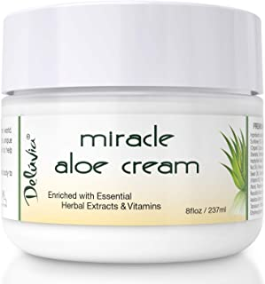 Face & Body Miracle Aloe Vera Moisturizing Cream - Facial Moisturizer Lotion – Day & Night Hydrating Skin Care for Dry, Ag...