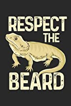 Respect The Beard: Bearded Dragon. Dot Grid Composition Notebook to Take Notes at Work. Dotted Bullet Point Diary, To-Do-List or Journal For Men and Women.