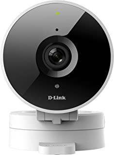D-Link HD WiFi Indoor Security Camera, Cloud Recording, Motion Detection & Night Vision, Amazon Alexa (Echo Show/Echo Spot/Fire TV), Google Assistant (Chromecast) (DCS-8010LH-US) White/Black