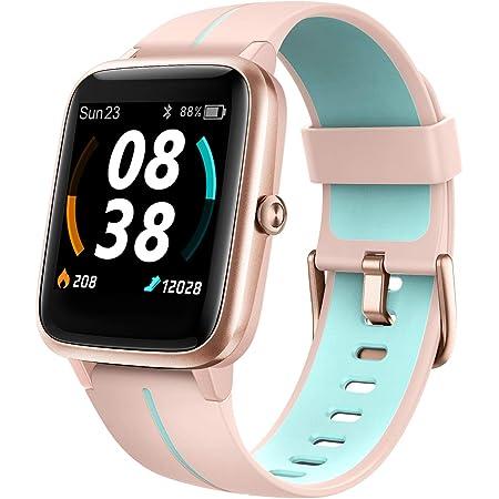 KUNGIX Smartwatch, Reloj Inteligente Impermeable Táctil Completa 5ATM con Podómetro Caloría GPS, Pulsera de Actividad Inteligente con Monitor de Sueño Pulsómetro, para Hombre Mujer niños