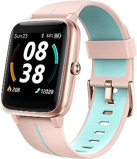 KUNGIX Smartwatch, Reloj Inteligente Impermeable Táctil Completa 5ATM con Podómetro Caloría GPS, Pulsera de Actividad Inte...