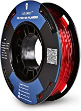 SAINSMART 1.75mm 250g Flexible TPU 3D Printing Filament, Dimensional Accuracy +/- 0.05 mm (Red)