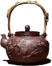 Gietijzertheepot Cast Iron Tea Kettle met Anti-Scald Handle Aan te raden om Brew Zwarte thee Oolong thee prachtig bewerkte...