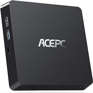 Mini PC Intel Atom Z8350 Windows 10 Pro Mini Computer 4GB DDR 64GB eMMC,Support 4K HD,2.4G/5G WiFi AC, 2.5 inch SSD,Blueto...