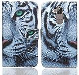 Huawei G8 / GX8 Handy Tasche, FoneExpert® Wallet Hülle Flip Cover Hüllen Etui Ledertasche Lederhülle Premium Schutzhülle für Huawei G8 / GX8 (Pattern 6)