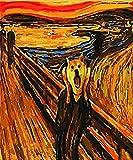 HAO Pintar por número Lobo rugiente Decoración de la habitación Pintura Sala de Estar Pintura al óleo Imagen por Dibujo Digital Imagen Digital de Bricolaje como Regalo 40x50cm Sin Marco