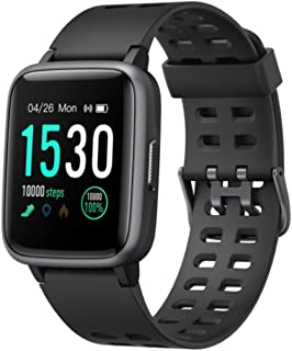 tugamobi Smart Band SB501 - Fitness Tracker, Touch Screen,Tracker with Heart Rate Monitor,5 ATM Waterproof Smart Fitness Band with Step Tracker,Calorie Counter,Alarm Clock,14 Modes (Black)
