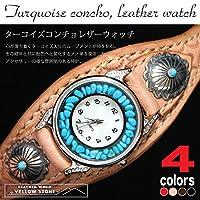 [イエローストーン]YELLOW STONE 本格ハンドメイド手縫いリストウォッチ 本革腕時計 ysw2 ブラック
