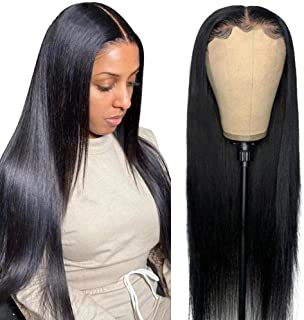 Maxine 10A Lace Front Wigs Human Hair with Baby Hair 13x6 Transparent Lace Wig Pre Plucked Bleached Knots Brazilian Remy S...