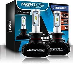 Novsight NIGHTEYE H7 Kit de conversión de Bombillas de Luces Delanteras LED, luz antiniebla, reemplazo de Luces HID o halógenas, lámpara de luz 50W 8000lm 6500K Blanco, 1 par- 2 año de garantía