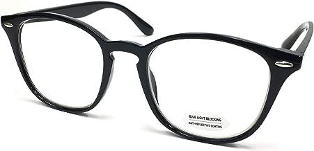 Blue Light Filter Computer Reading Glasses for UV Blocking Protection Transparent Lens Gaming Glasses Anti Eyestrain Fatigue Eyewear for Better Sleep Anti Glare(Round, Black)