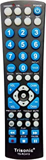 Trisonic 6 Way All in One Universal Remote Control, Programmable Remote, Compatible with TV, AUX,Cable COVERTER Box, CD,DVD, Cable, Satellite and More
