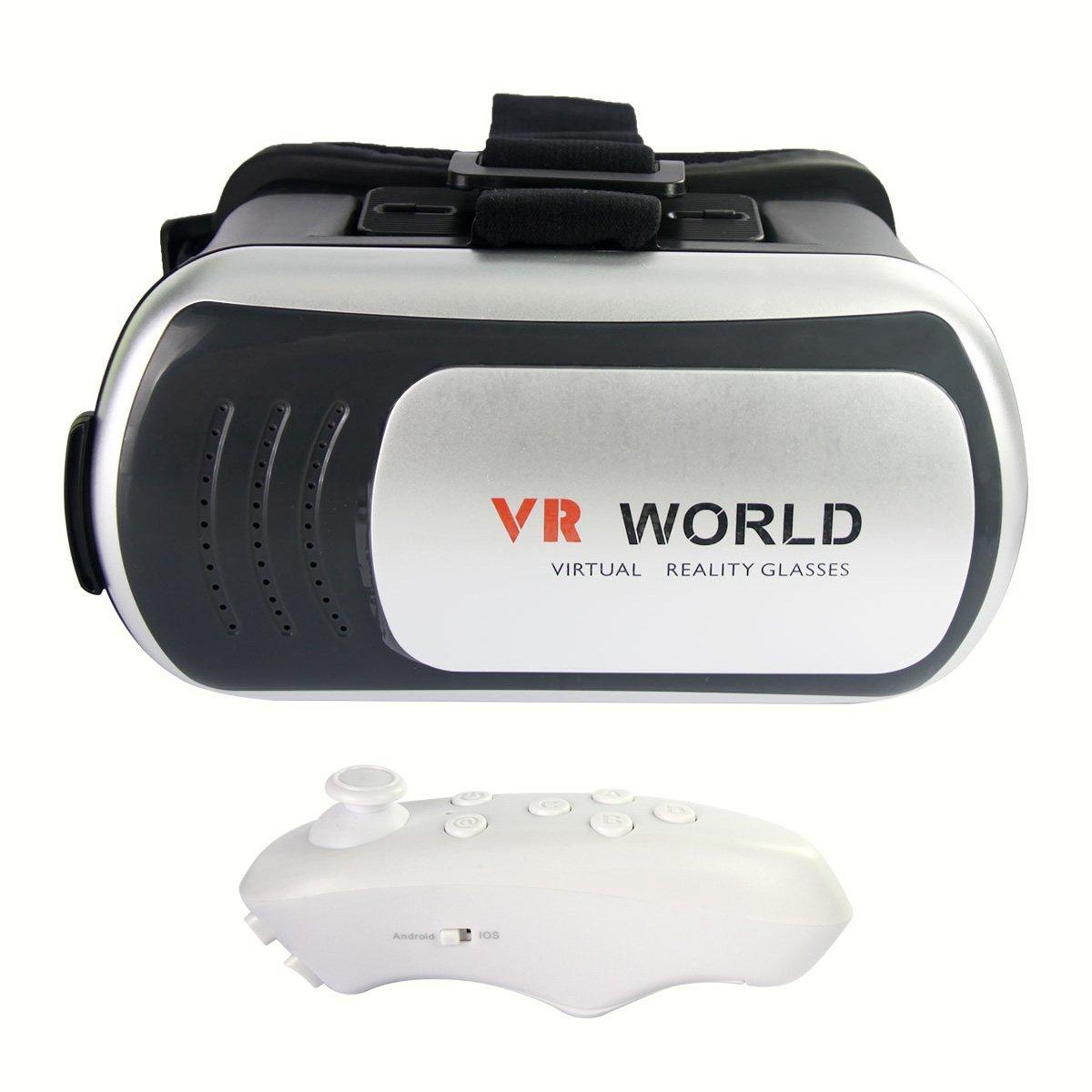 ÁpexTech Gafas de Realidad Virtual 3D + Mando Control Remoto para ...