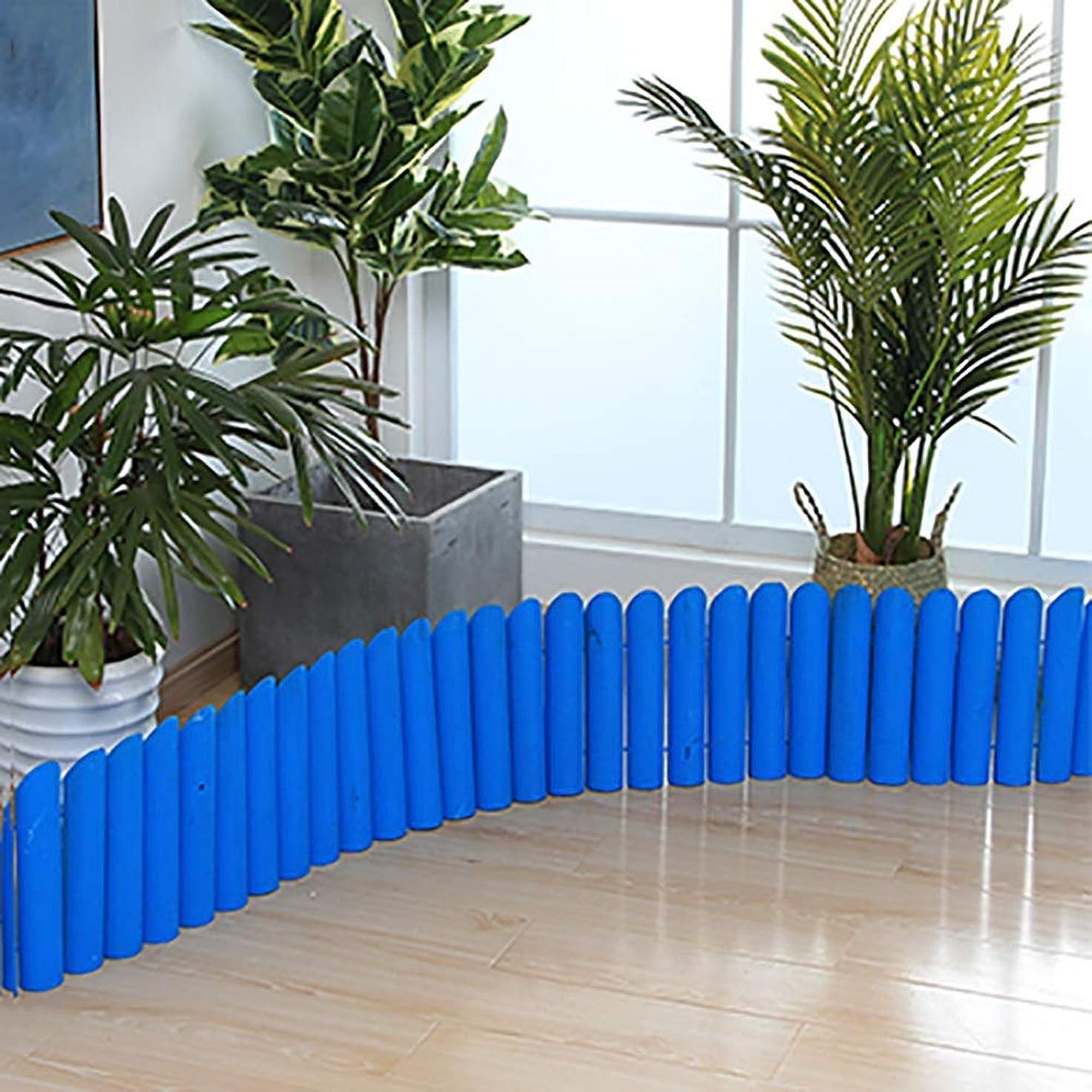 ファイバスキャン提供するSUBBYE インスタントフェンス、木製ピケットフェンス、自立型スクリーンフェンス、屋内パティオカントリーコーナーピケットガーデンクリエーションフェンス、青、4サイズ (Color : 120×40cm)