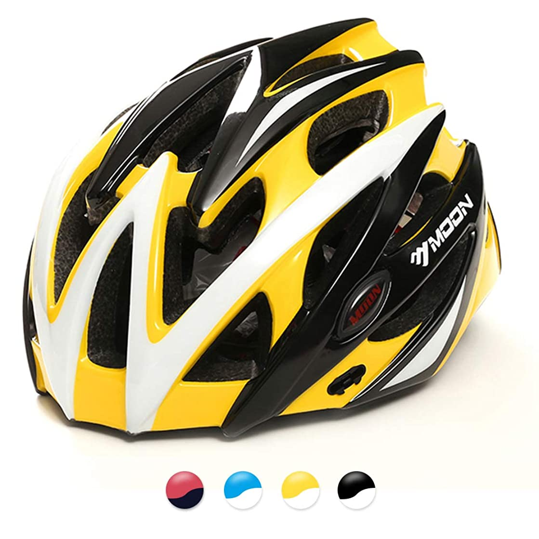 シャワーアンティークパラメータMOON 自転車 ヘルメット ロードバイク サイクリング ヘルメット 超軽量 高剛性 サイズ調整 25通気穴 スポーツ 大人 男女兼用