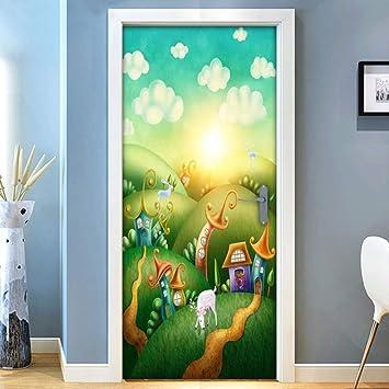 3D Wall Sticker Decoration Self Adhesive Door Decal Mural Children unicorns  DS/_1963
