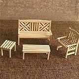 Eamoney 1:12 Miniature:Chair Set Mini Dollhouses Accessory DIY Dollhouse Dcor Toy House Model Kids Toy
