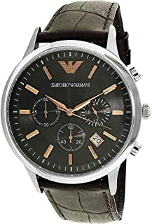 Emporio Armani Watch For Men - Analog, Leather Strap - Ar2513