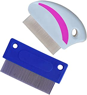 zYoung 2 Pcs Pet Tear Stain Remover Combs for Dogs Cat Comb