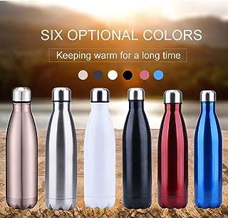 Local Makes A Comeback Modern Wave Water Bottle,500ML de doble pared con aislamiento de botella de agua de acero inoxidable