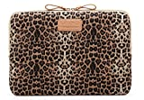 Kayond KY-03 Canvas Fabric 13 Inch Laptops sleeve - Brown Leopard Print