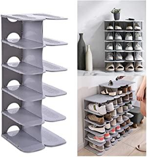 ACPOP Shoe Slots Organizer, Adjustable Shoe Rack,Better Stability Shoe Organizer,Shoe Stacker,Space Saver,Pack of 6