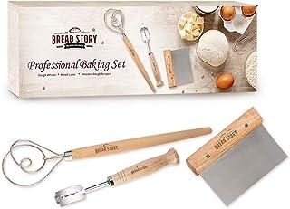 Professional Baking Kit Bread Lame, Danish Whisk Set and Wooden Scraper