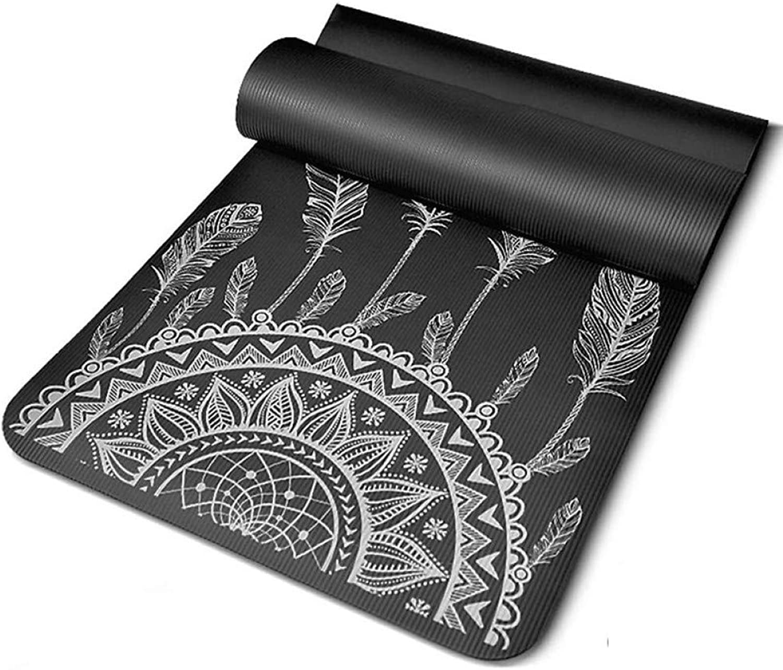 Baibian 185  80cm  10mm Yoga Matte für anfnger Rutschfeste geschmacklos Fitness Pilates übung Faltbare Gym Camping Schlafsack,Schwarz