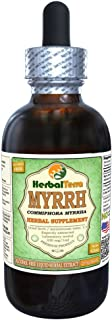 Myrrh (Commiphora Myrrha) Glycerite, Organic Dried Gum Resin Alcohol-FREE Liquid Extract 2 oz