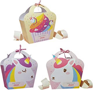 Toyvian 25 Unids Bolsas para Regalo de Unicornio Bolsa de Caramelo Regalo para Fiesta Cumpleaños Unicornio
