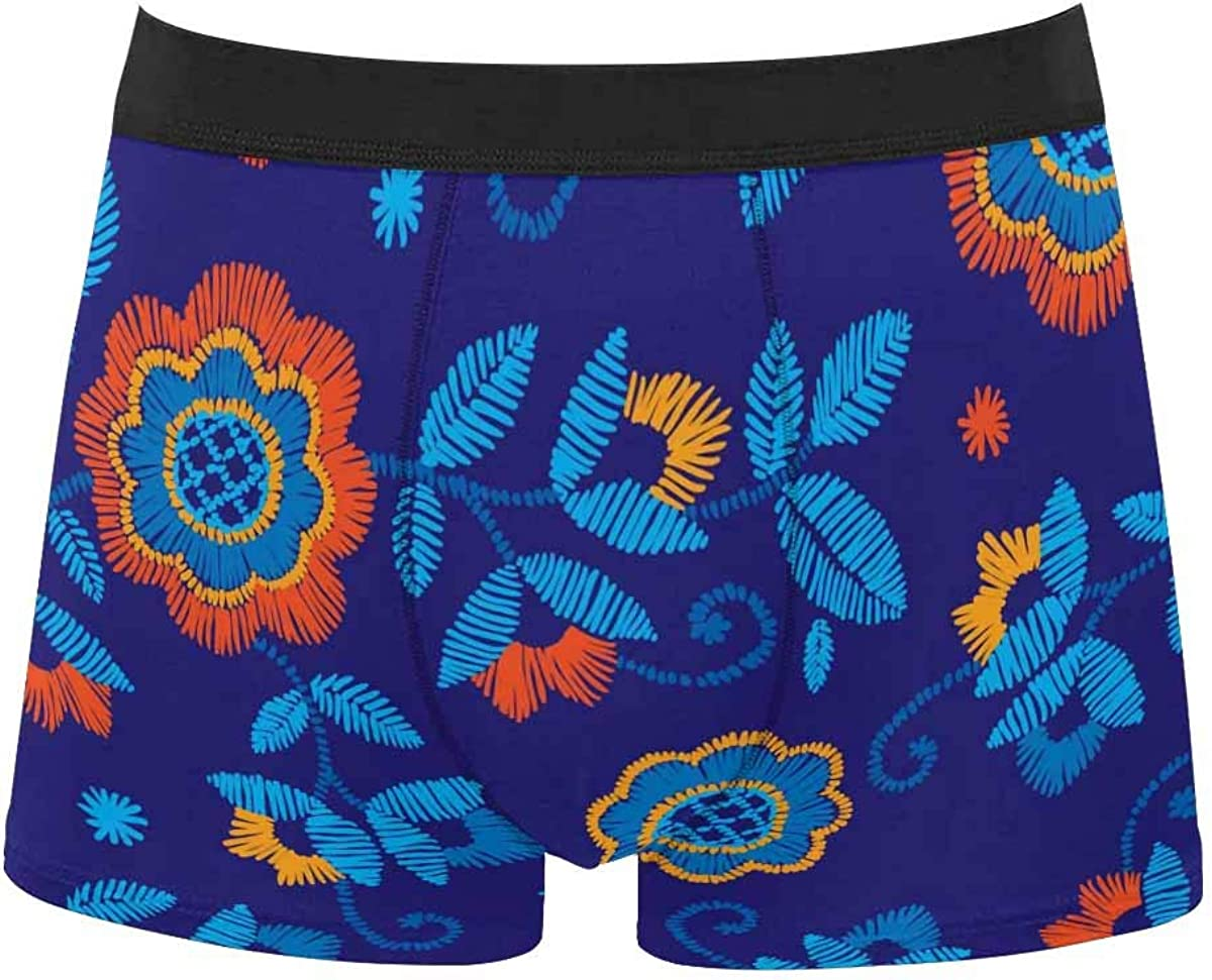 InterestPrint Men's Lightweight Breathable Boxer Classic Briefs Underwear Eiffel Tower Roses