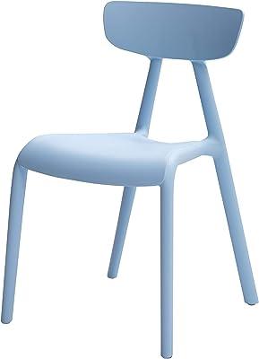 AmazonBasics, Blue, Stackable Kids Chairs, Premium Plastic, 2-Pack