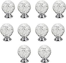 10 STKS 30mm Crystal Lade Trekt Handvat, Glas Kabinet Knoppen Enkele Gat Bubble Ball Vormige Lade Trekt Handvat voor Thuis...