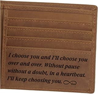 Custom Engraving Mens Wallet, Anniversary Gifts for Husband, Personalized Gifts for Men, Husband, Boyfriend Gifts