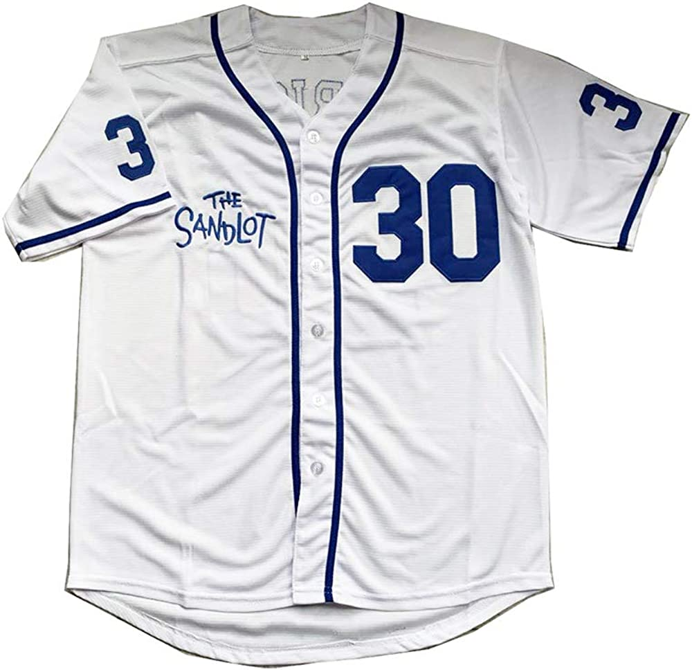 Men's Movie Baseball Quality inspection Jersey Oakland Mall Rodriguez The #30 Stitched C Sandlot
