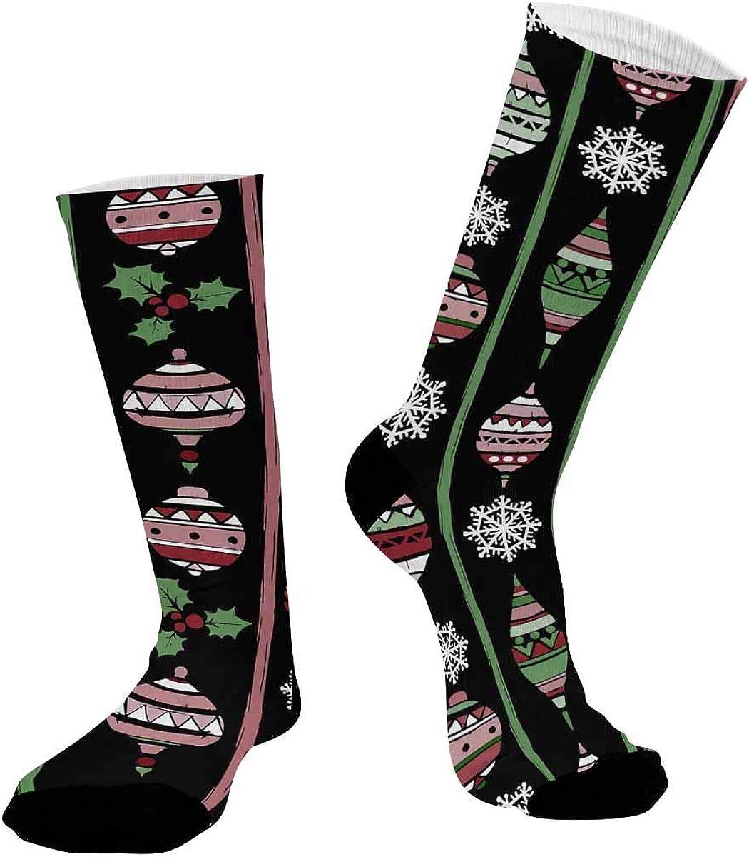 INTERESTPRINT Unisex Outdoor Sports Athletic Hiking Socks Holidays Vintage Christmas