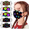 ORT 5PCS Reusable Washable Face Bandanas,Breathable Face_Masks with Adjustable Ear Straps for Children,Cute Cartoon Printed ???????????????? ???????????????????????? for Kids Boys Girls Outdoor Students Back to School