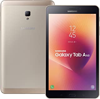 Samsung Galaxy Tab A 8.0 2017 (SM-T385) 8.0-inches 2GB/16GB LTE Factory Unlocked Tablet PC - International Stock No Warranty (Gold)