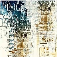 Bosakp 現代抽象アートスタイル3D壁紙人格落書き写真壁画レストランKtvバーカフェ装飾壁紙 100X50Cm