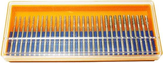 Oudtinx 30 pcs SET 10 pcs. 1mm 10pcs. 2mm 10 pcs. 3mm Diamond Drill Bit Cylindrical Burr Kit Jewelry Beach Sea Glass Shells Gemstones Lapidary 30pcs. 1 mm 2 mm 3mm (1/8